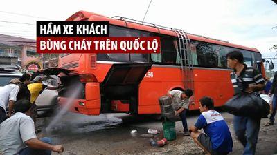 Dùng vòi xịt rửa xe máy trong tiệm cứu xe khách bùng cháy trên quốc lộ