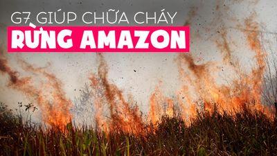 G7 gấp rút bàn chuyện chữa cháy rừng Amazon