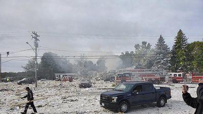 Tòa nhà mới xây bị san bằng sau vụ nổ khí gas, 9 người thương vong