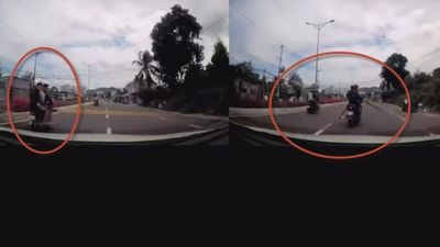 Clip 15 kẻ giang hồ chạy 5 xe máy cầm hung khí rượt chém nhau trên đường