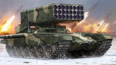 Màn 'phun lửa hủy diệt' của hệ thống pháo phản lực hạng nặng TOS-1A