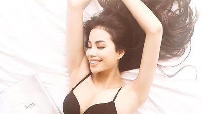Phạm Hương diện bikini ở trời Tây, Hồ Ngọc Hà mặc váy cúp ngực sexy