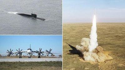 Cận cảnh màn phô diễn sức mạnh của bộ 3 'sát thủ' trong dàn vũ khí hạt nhân Nga