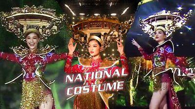 Miss Grand tắt đèn cho Vedette Kiều Loan diễn National Costume Huyền đăng hội: Tỏa sáng rực rỡ!