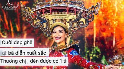 Fan Việt tiếc nuối Kiều Loan hỏng đèn quốc phục: Nụ cười và thần thái cứu cả màn trình diễn