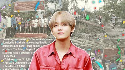 Fan Việt của V (BTS) tiếp tục gây ấn tượng khi quyên góp tiền xây cầu thiện nguyện đúng dịp sinh nhật idol