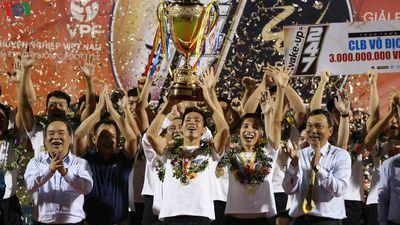 Khoảnh khắc đăng quang ngôi vô địch V-League 2019 của Hà Nội FC