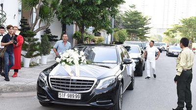 Dàn xe sang trong lễ rước dâu của ca sĩ Bảo Thy