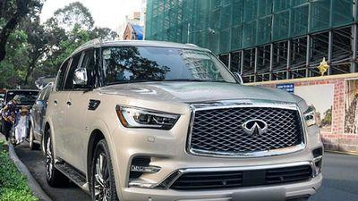 Cận cảnh 'khủng long' Infiniti QX80 hơn 9 tỷ ở Sài Gòn