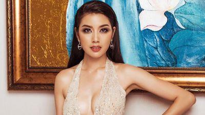Top 45 Hoa hậu Hoàn vũ Việt Nam khoe vóc dáng với đầm dạ hội