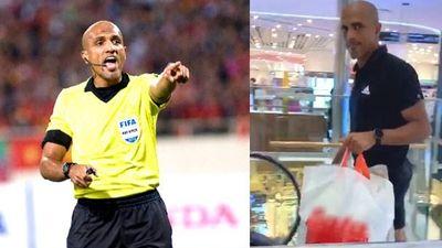Trọng tài Ahmed Al-Kaf cám ơn fan dù bị sỉ vả, đi siêu thị mua sắm trước khi về nước