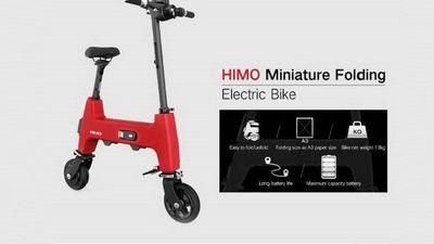 Cận cảnh xe điện Xiaomi Himo H1 có thể gấp gọn bằng tờ giấy A3