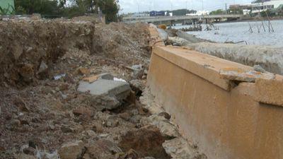 Kè sông 12 tỷ đổ sập khi chưa nghiệm thu