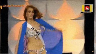 Hoa hậu Pháp ngã khi diễn bikini ở Hoa hậu Hoàn vũ 2019