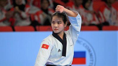 Vẻ xinh xắn của VĐV teakwondo Việt Nam