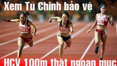 Xem 'nữ hoàng tốc độ' Tú Chinh chiến thắng VĐV gốc Mỹ