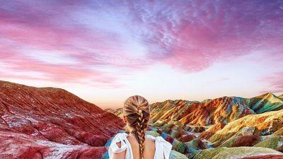 Chiêm ngưỡng vẻ đẹp của dãy núi cầu vồng tại Trung Quốc