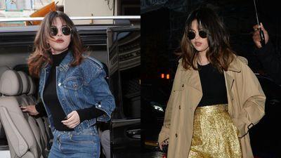 Selena Gomez thay đến 4 bộ trang phục trong một ngày xuống phố