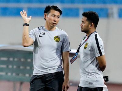 Một ngày trước khi gặp tuyển Việt Nam, đội Malaysia của HLV Tan Cheng Hoe đã có buổi tập khớp sân duy nhất tại Mỹ Đình.