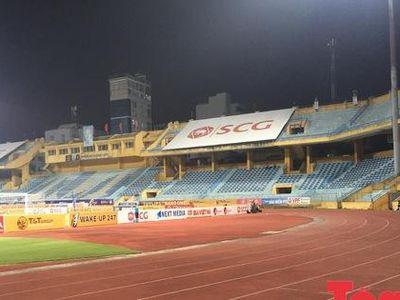 Sau lệnh 'treo sân' của Ban kỷ luật Liên đoàn bóng đá Việt Nam, khung cảnh quạnh hiu đã hiện diện trên sân Hàng Đẫy.