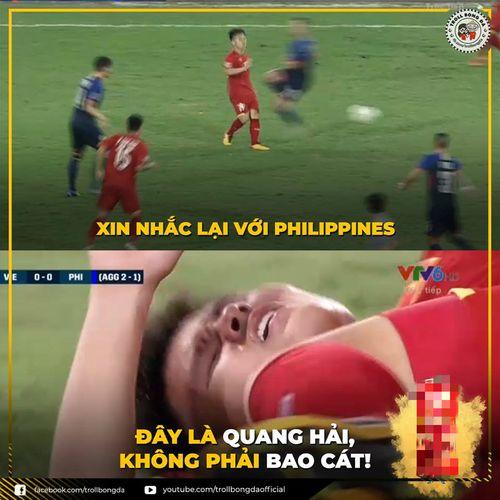 'Bao cát' Quang Hải được dân mạng chế ảnh sau trận gặp Philippines
