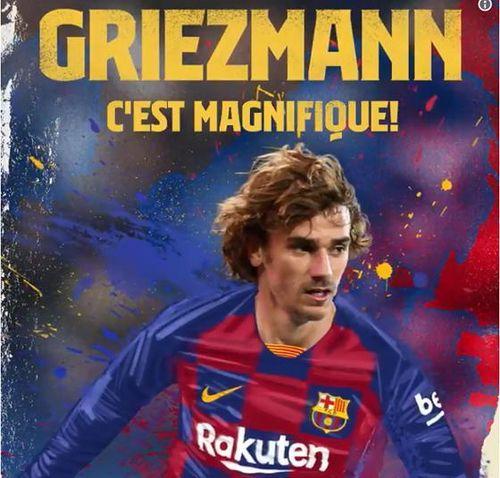 Antoine Griezmann chính thức gia nhập Barcelona