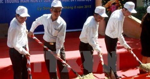 Đầu tư 5,3 tỷ đồng xây trường mầm non trên đảo Lý Sơn