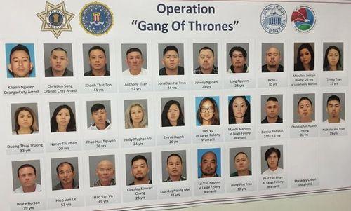 Cảnh sát Mỹ phá băng nhóm tội phạm gốc Việt lớn