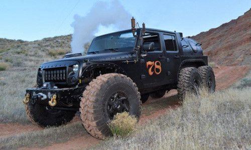 'Quái vật' Jeep Wrangler 6 bánh chạy bằng hơi nước