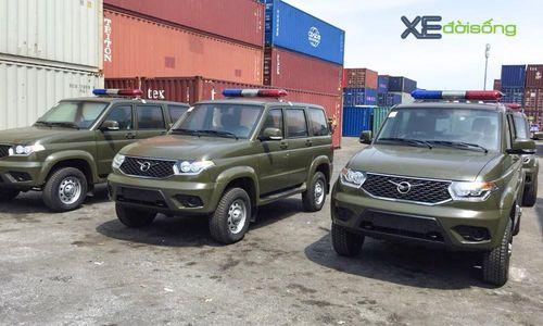 Lô xe UAZ đặt hàng bởi Bộ Công An đã về đến Việt Nam
