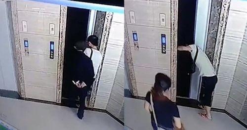 Sốt ruột cạy cửa thang máy vì chờ lâu quá, con rể khiến bố vợ bước vào rồi ngã chết