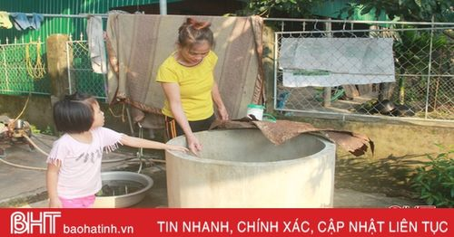 'Khát' nước sạch trên khu tái định cư ở Hương Sơn