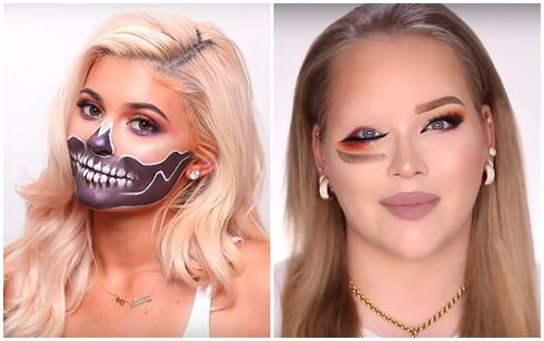 Kylie Jenner makeup đầu lâu đáng sợ cho ngày Halloween, phong cách mắt lộn ngược trở thành hot-trend