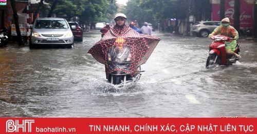 Hà Tĩnh tiếp tục mưa vừa đến mưa to, đề phòng lốc, sét