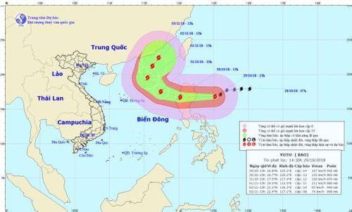 Ngày mai (30/10), bão Yutu giật cấp 15 đổ bộ Biển Đông