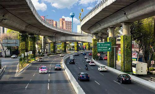 Mexico 'vườn hóa' đường trên cao làm sạch đẹp thành phố
