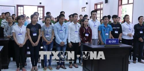 Y án sơ thẩm đối với 15 bị cáo gây rối trật tự công cộng tại Đồng Nai