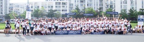 Chạy bộ từ thiện ủng hộ Quỹ nghiên cứu bệnh ung thư