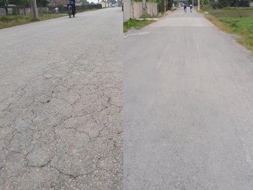 Nghệ An: Chính quyền huyện cam kết khắc phục đoạn đường vừa làm xong đã bị nứt, sụt lún
