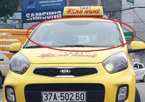 Taxi Sao Nghệ chưa được cấp phép đã công khai chở khách
