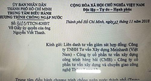 Tư vấn giám sát hợp đồng 'siêu' dự án chống ngập toan tính hợp thức hóa 'danh phận' ông Nguyễn Viết Thanh