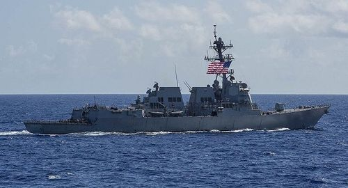 Hai tàu hải quân Mỹ xuất hiện tại eo biển Đài Loan