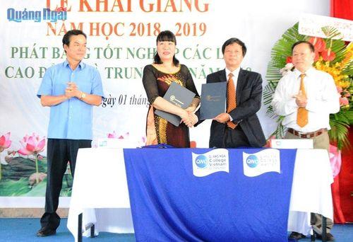 Trường CĐ Quảng Ngãi khai giảng năm học mới