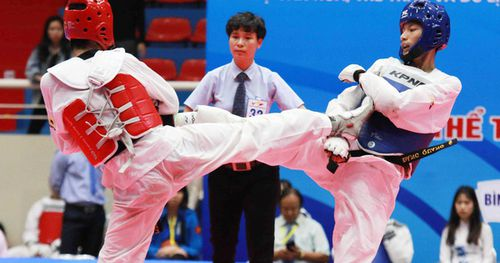 Võ sĩ 17 tuổi Phạm Đăng Quang giành Huy chương Vàng môn Taekwondo