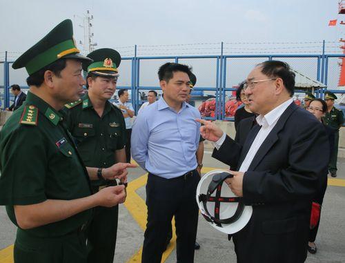 Đoàn đại biểu Ủy ban Hợp tác quản lý cửa khẩu Trung Quốc khảo sát cảng quốc tế Cái Mép và Thị Vải
