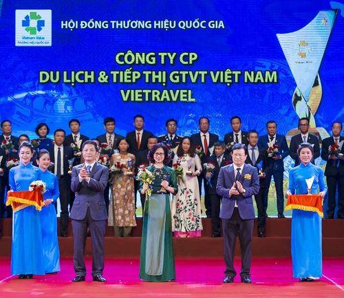 Vietravel vinh dự lần thứ 4 liên tiếp đạt 'Thương hiệu Quốc gia'