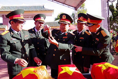 Gia Lai: Tổ chức truy điệu, an táng 45 hài cốt liệt sĩ