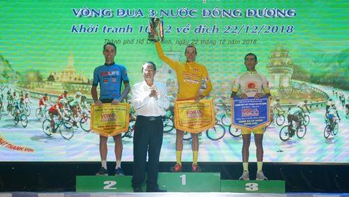 Tay đua Sarda Perez Javier đoạt áo vàng Giải đua xe đạp Nam Kỳ Khởi Nghĩa 2018