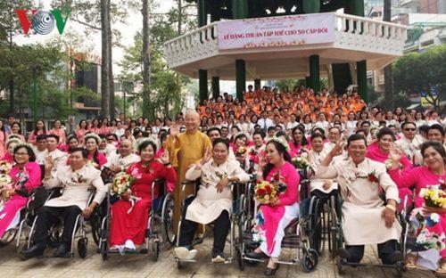 Tổ chức lễ cưới cho 50 cặp thanh niên khuyết tật, có hoàn cảnh khó khăn