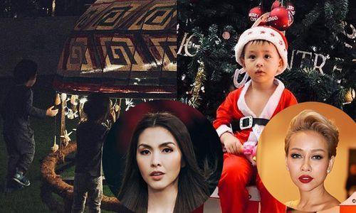 Không hẹn mà gặp, Tăng Thanh Hà - Thảo Trang và Justa Tee đồng loạt khoe con trong ngày Giáng sinh